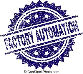 Scratched Textured FACTORY AUTOMATION Stamp Seal