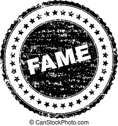 Scratched Textured FAME Stamp Seal - FAME seal print with...