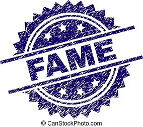 Scratched Textured FAME Stamp Seal - FAME stamp seal...