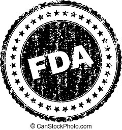 Scratched Textured FDA Stamp Seal