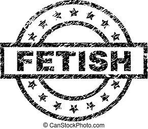 Scratched Textured FETISH Stamp Seal - FETISH stamp seal...
