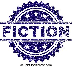Scratched Textured FICTION Stamp Seal