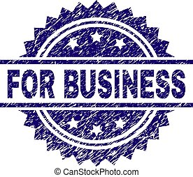 Scratched Textured FOR BUSINESS Stamp Seal - FOR BUSINESS...