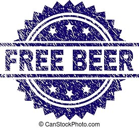 Scratched Textured FREE BEER Stamp Seal