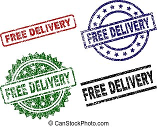 Scratched Textured FREE DELIVERY Stamp Seals