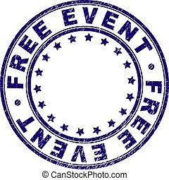 Scratched Textured FREE EVENT Round Stamp Seal