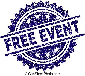 Scratched Textured FREE EVENT Stamp Seal - FREE EVENT stamp...
