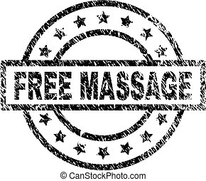 Scratched Textured FREE MASSAGE Stamp Seal