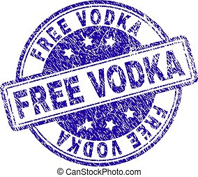Scratched Textured FREE VODKA Stamp Seal