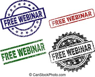 Scratched Textured FREE WEBINAR Stamp Seals