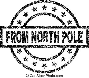 Scratched Textured FROM NORTH POLE Stamp Seal