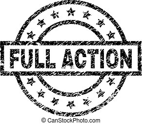 Scratched Textured FULL ACTION Stamp Seal
