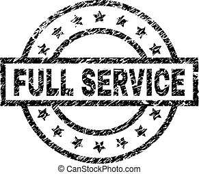 Scratched Textured FULL SERVICE Stamp Seal