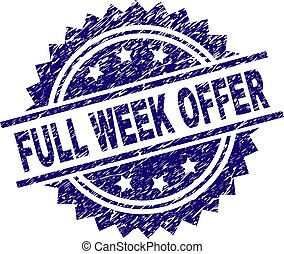 Scratched Textured FULL WEEK OFFER Stamp Seal