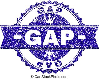 Scratched Textured GAP Stamp Seal with Ribbon