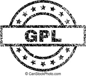 Scratched Textured GPL Stamp Seal