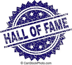 Scratched Textured HALL OF FAME Stamp Seal