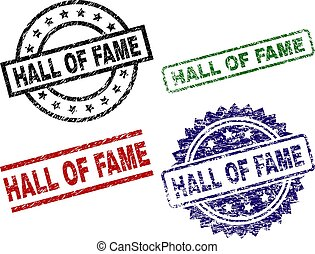 Scratched Textured HALL OF FAME Stamp Seals