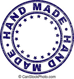 Scratched Textured HAND MADE Round Stamp Seal