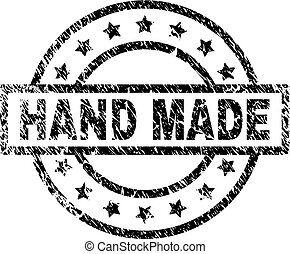 Scratched Textured HAND MADE Stamp Seal