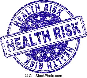 Scratched Textured HEALTH RISK Stamp Seal