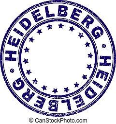 Scratched Textured HEIDELBERG Round Stamp Seal