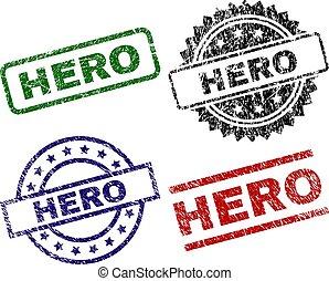Scratched Textured HERO Stamp Seals