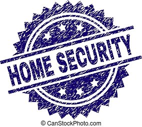 Scratched Textured HOME SECURITY Stamp Seal