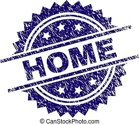 Scratched Textured HOME Stamp Seal