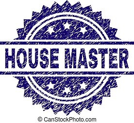 Scratched Textured HOUSE MASTER Stamp Seal