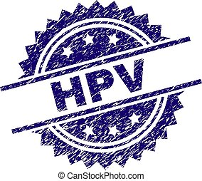 Scratched Textured HPV Stamp Seal - HPV stamp seal watermark...