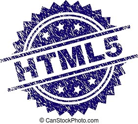 Scratched Textured HTML5 Stamp Seal