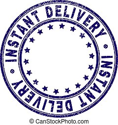 Scratched Textured INSTANT DELIVERY Round Stamp Seal -...