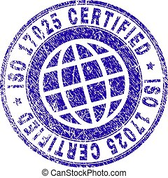 Scratched Textured ISO 17025 CERTIFIED Stamp Seal