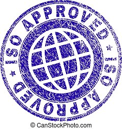 Scratched Textured ISO APPROVED Stamp Seal