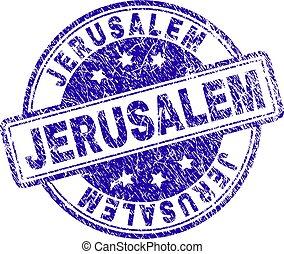 Scratched Textured JERUSALEM Stamp Seal - JERUSALEM stamp...