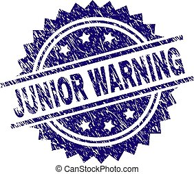 Scratched Textured JUNIOR WARNING Stamp Seal