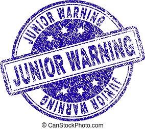Scratched Textured JUNIOR WARNING Stamp Seal