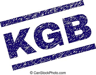 Scratched Textured KGB Stamp Seal