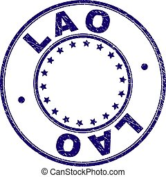 Scratched Textured LAO Round Stamp Seal - LAO stamp seal...