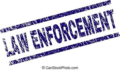Scratched Textured LAW ENFORCEMENT Stamp Seal - LAW...