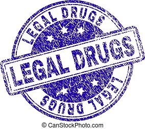Scratched Textured LEGAL DRUGS Stamp Seal