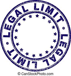 Scratched Textured LEGAL LIMIT Round Stamp Seal