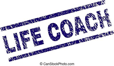Scratched Textured LIFE COACH Stamp Seal