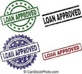 Scratched Textured LOAN APPROVED Stamp Seals