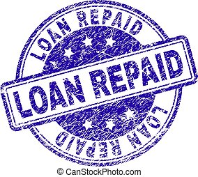 Scratched Textured LOAN REPAID Stamp Seal