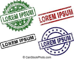 Scratched Textured LOREM IPSUM Stamp Seals - LOREM IPSUM...