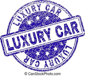 Scratched Textured LUXURY CAR Stamp Seal