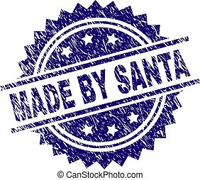 Scratched Textured MADE BY SANTA Stamp Seal