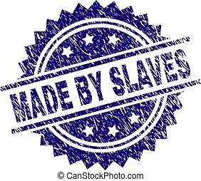 Scratched Textured MADE BY SLAVES Stamp Seal